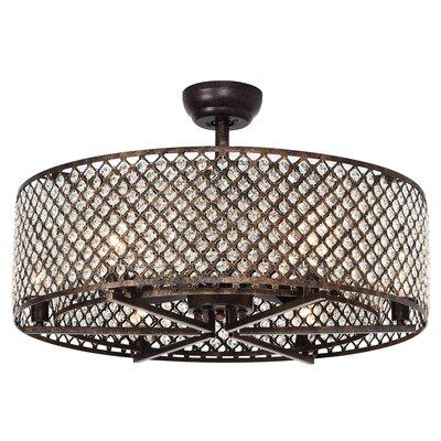 Gurrola 3 Blade LED Ceiling Fan with Remote BI110825