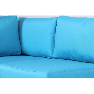 Outdoor Cushion Cover Fabric: Blue