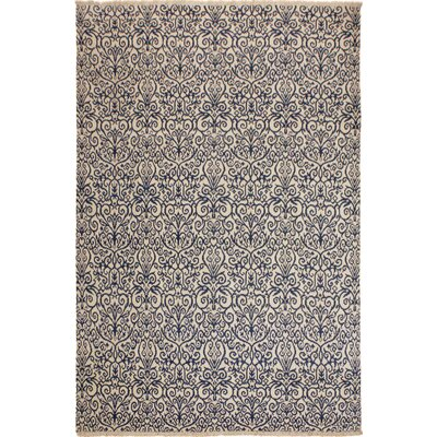 Image of One-of-a-Kind Andreas Hand Knotted Wool Ivory/Navy Area Rug