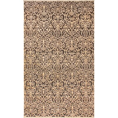 Image of One-of-a-Kind Andreas Hand Knotted Wool Charcoal/Brown Area Rug
