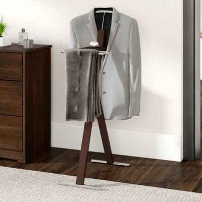 Katrice Metal Bedroom Valet Stand Finish: Cappuccino