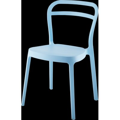 Mono Dining Chair Color: Blue