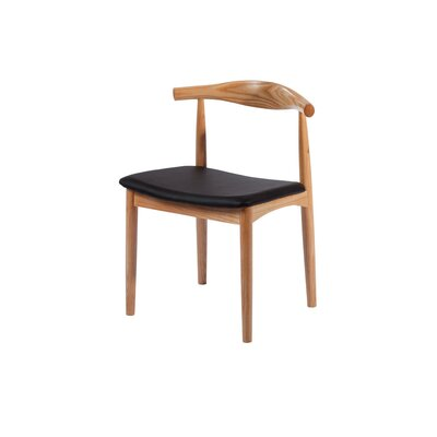 Mid Century Solid Wood Dining Chair Color: Natural