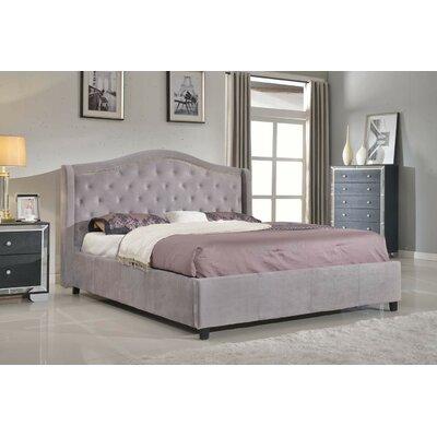 Nicole Footboard and Rails Upholstered Platform Bed 24B619B65DF74EBD89F50821A3D56390