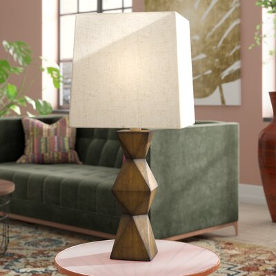"Chambray Stacked Diamond 20.5"" Desk Lamp"