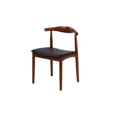 Mid Century Solid Wood Dining Chair Color: Walnut