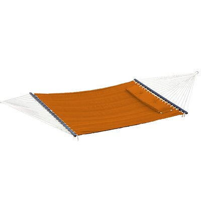 Image of Calla Double Quilted Tree Hammock Color: Orange