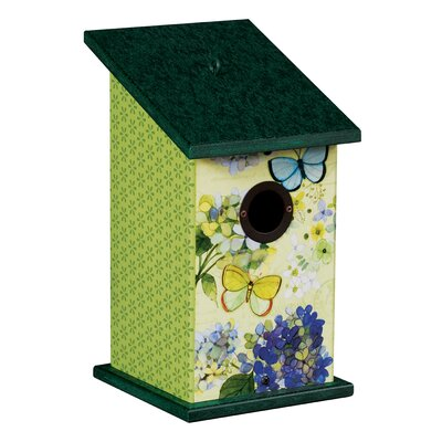Butterfly Haven Universal 12.25 in x 7 in x 7 in Birdhouse