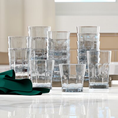 Jansson Classic Every Day 18 Piece Glass Assorted Glassware Set ALTH2474 42149403