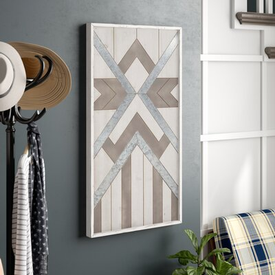 'Contemporary Geometric-Patterned' Framed Graphic Art Print