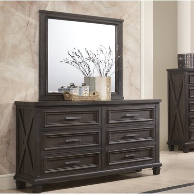 Cormac 6 Drawers Double Dresser with Mirror