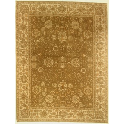 One-of-a-Kind Copper Hand-Knotted Wool Brown Area Rug BF175076
