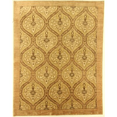 One-of-a-Kind Cora Hand-Knotted Wool Brown Area Rug BF175080