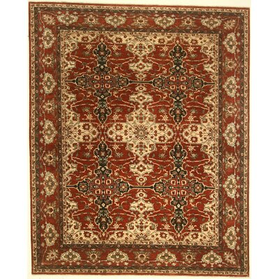 One-of-a-Kind Coral Springs Hand-Knotted Wool Red Area Rug BF175082