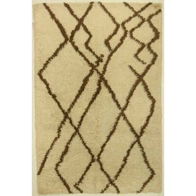 One-of-a-Kind Corbeil Hand-Knotted Wool Ivory Area Rug BI175089