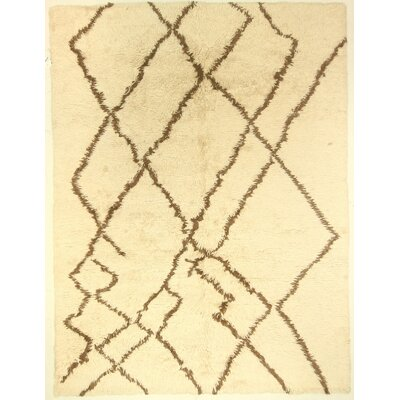 One-of-a-Kind Corbeil Hand-Knotted Wool Ivory Area Rug BF175089