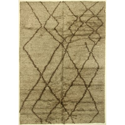 One-of-a-Kind Corbeil Hand-Knotted Wool Gray Area Rug BF175088