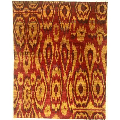 One-of-a-Kind Corley Hand-Knotted Sari Silk Red Area Rug BI175088