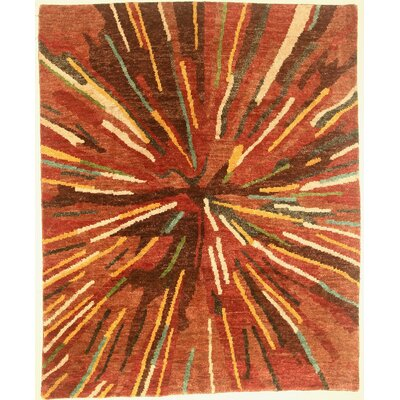 One-of-a-Kind Corliss Hand-Knotted Orange Area Rug BI175091