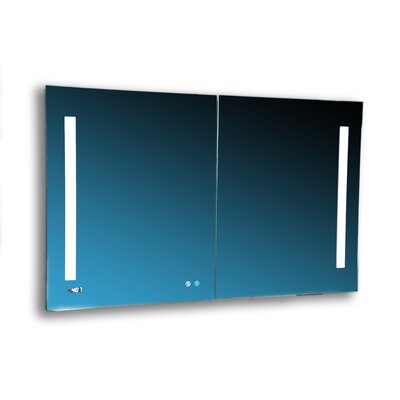 "Donnelly 48"" x 30"" Recessed or Surface Mount Frameless Medicine Cabinet with 3 Adjustable Shelves"