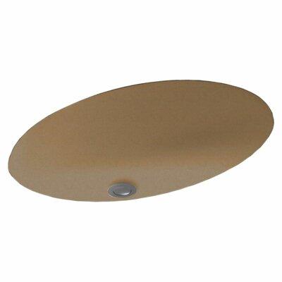 Oval Undermount Bathroom Sink Sink Finish: Barley