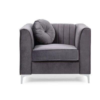 Adhafera Armchair Upholstery: Gray 89BE21DEC6B44D2DB5033EA8B5A5ED39