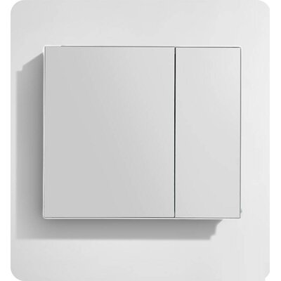 "Kellogg 30"" x 30"" Recessed or Surface Mount Frameless Medicine Cabinet with 3 Adjustable Shelves"