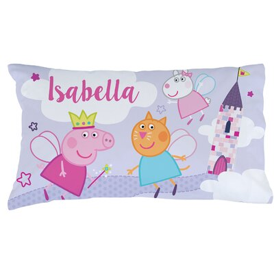 Personalized Peppa Pig Be A Princess Pillow Case