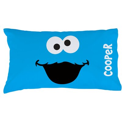 Personalized Sesame Street Cookie Monster Pillow Case