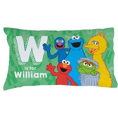 Personalized Sesame Street Initial Pillow Case