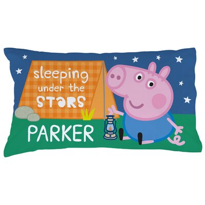 Personalized Peppa Pig Sleep Under The Stars Pillow Case