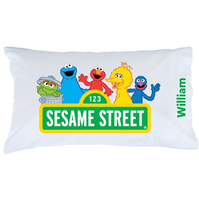 Personalized Sesame Street Sign Pillow Case