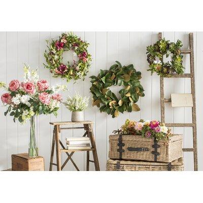 Celosia & Fern Indoor Wreath Size: 22