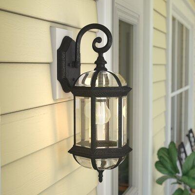 Hartshorne 1-Light Outdoor Wall lantern Finish: Textured Black