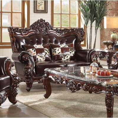 Keagan Leather Loveseat 74B716BC3398471C80395C309F5A3CEB