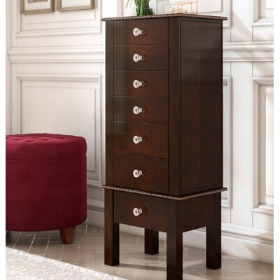 Bangor Jewelry Armoire Color: Espresso