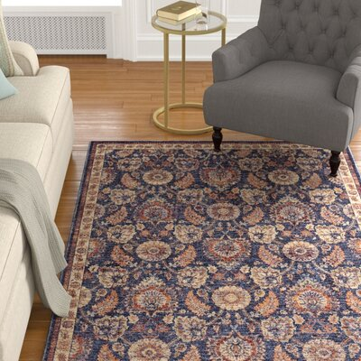Ribeiro Blue/Rust Area Rug