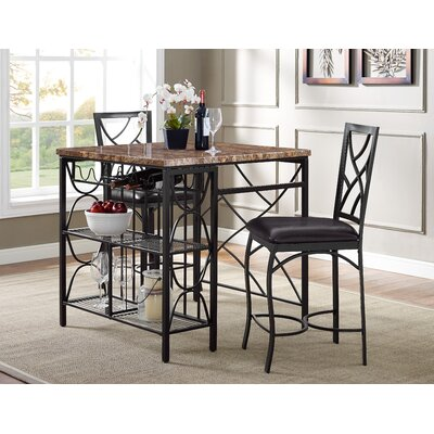 Vaughan Kitchen 3 Piece Breakfast Nook Dining Set BB93C6A6A17445D280A3468FCBE05D81
