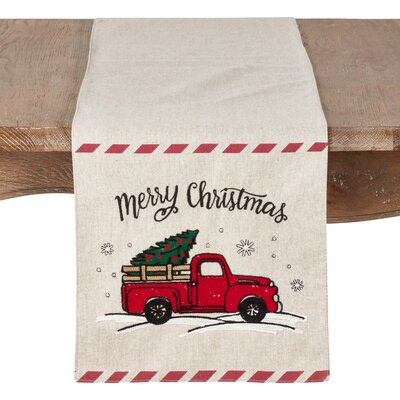 Beal Holiday Truck Table Runner