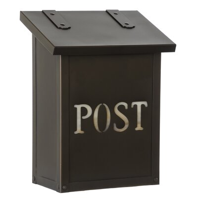 Classic Wall Mounted Mailbox AF-1-POST-BZ-HN