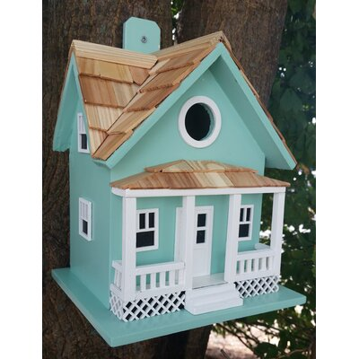 Beachside Cottage 10 in x 9 in x 9 in Birdhouse Color: Seafoam Blue