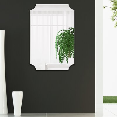 Anahi Frameless Beveled Design Ovation Reign Rectangle Scalloped Bathroom/Vanity Mirror