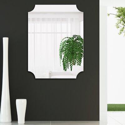 Anahi Frameless Beveled Design Ovation Reign Rectangle Scalloped Bathroom/Vanity Mirror