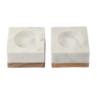 Marble/Wood Tealight Holder