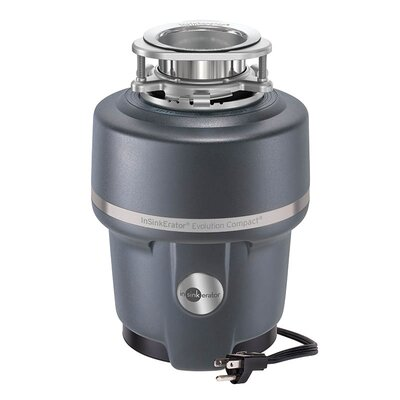 Evolution Compact 3/4 HP Continuous Feed Garbage Disposal (with Optional Power Cord) Power Cord: Power Cord Included ICOMPACTWC