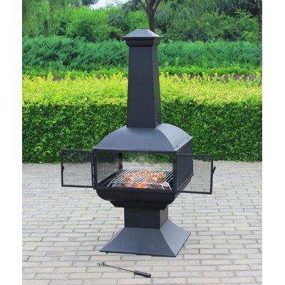 Gartenkamin Taurus   Garten > Grill und Zubehör > Gartenkamine   Schwarz   Holz   MDA Designs