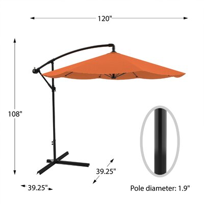Image of Vassalboro 10' Cantilever Umbrella Fabric Color: Burnt Orange