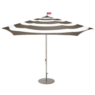 Image of Stripesol Market Umbrella Base Color: Taupe, Fabric Color: Taupe/White