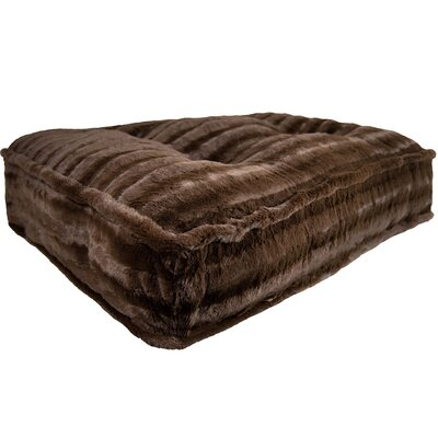 "Image of Aparicio Rectangle Bed Pillow Size: Large (46"" W x 35"" D x 6"" H), Color: Godiva Brown"