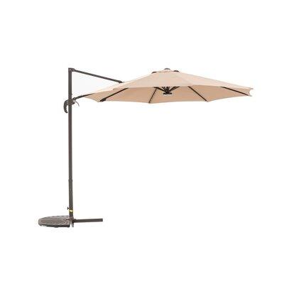 Image of Kurth 9.5' Cantilever Umbrella Fabric Color: Khaki
